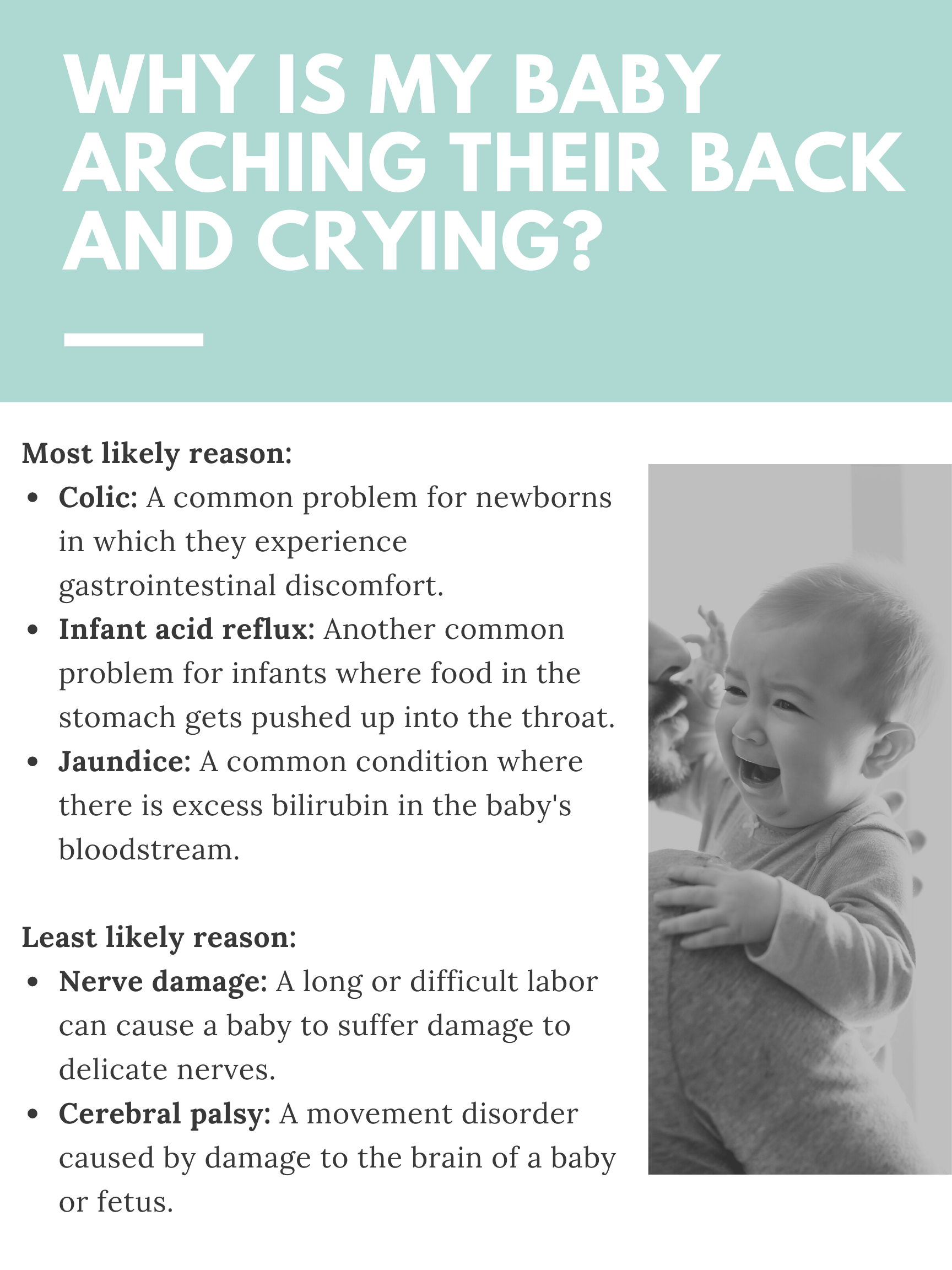 Arched Back Crying Baby Possible Causes